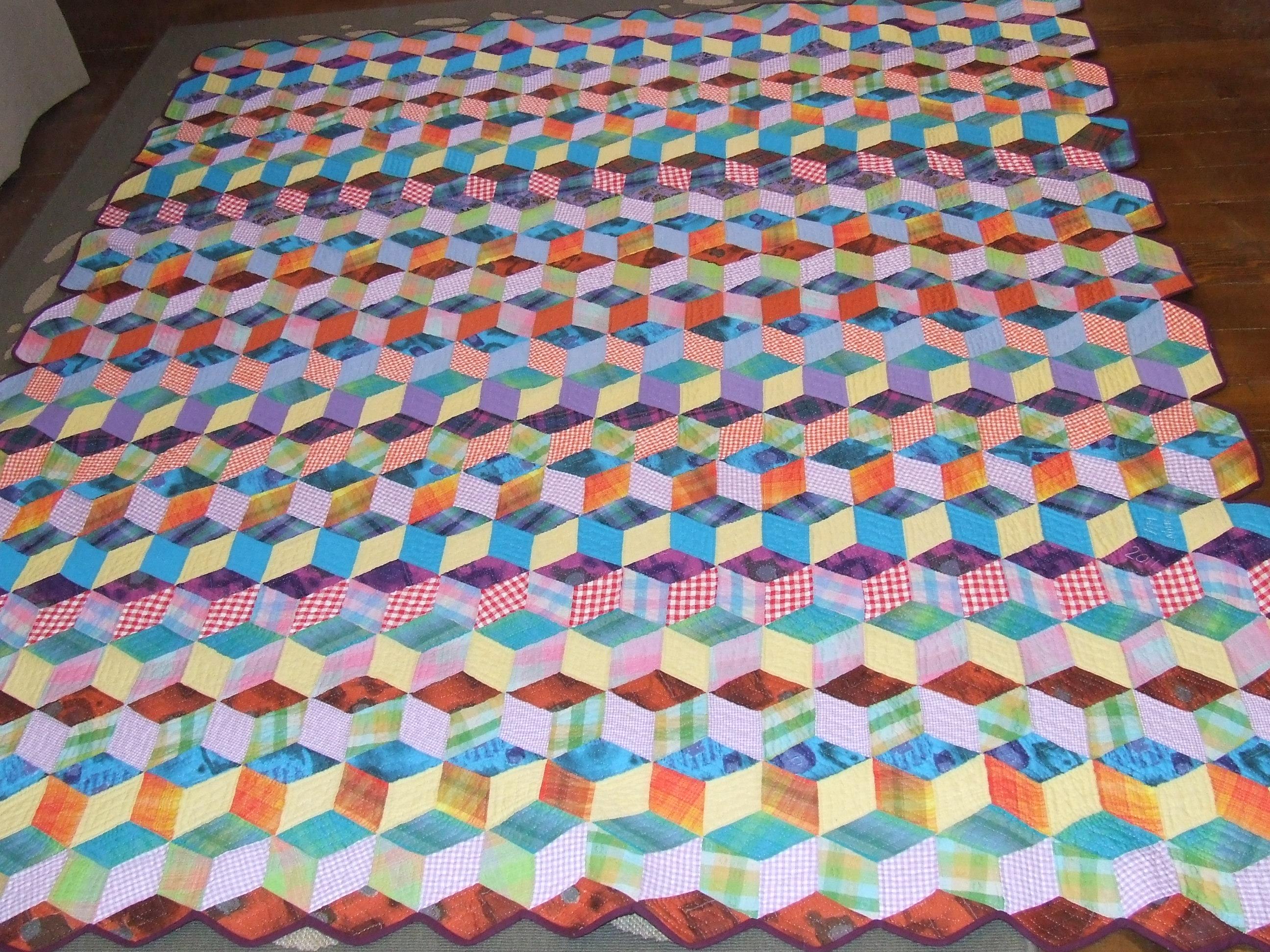 Tumbling Blocks Crochet Pattern Miifotos