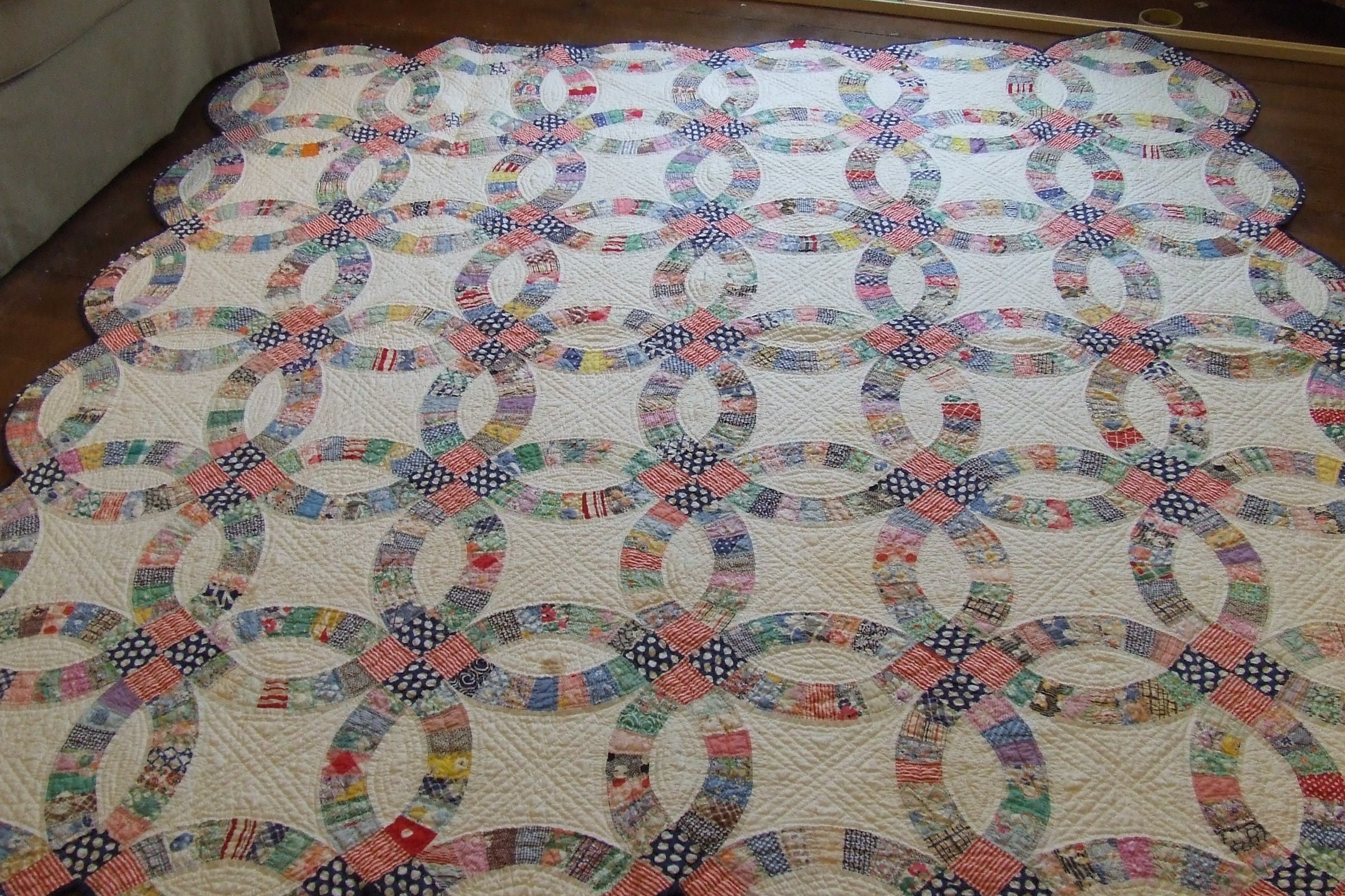 this - Double Wedding Ring Quilt Pattern