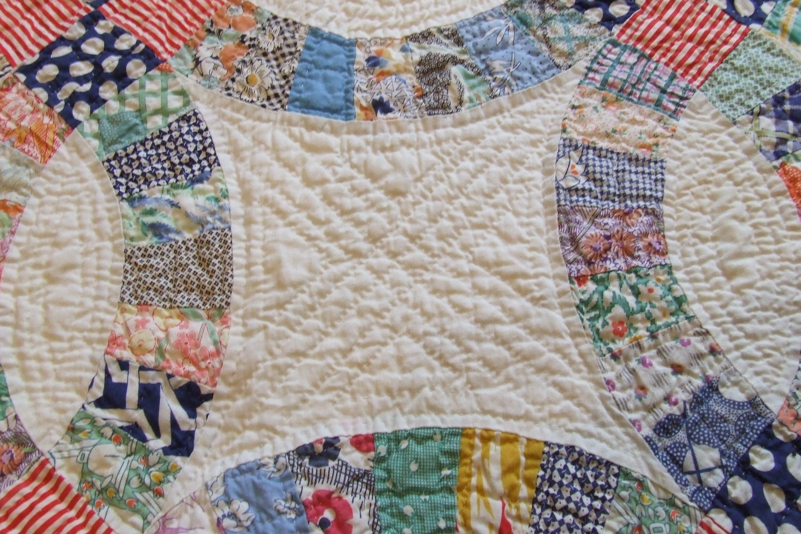 double wedding ring quilt photo