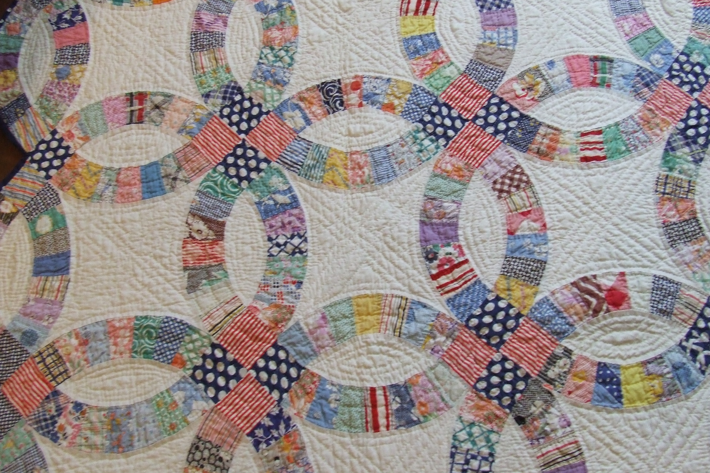 how to make a quilt template - double wedding ring quilt tim latimer quilts etc
