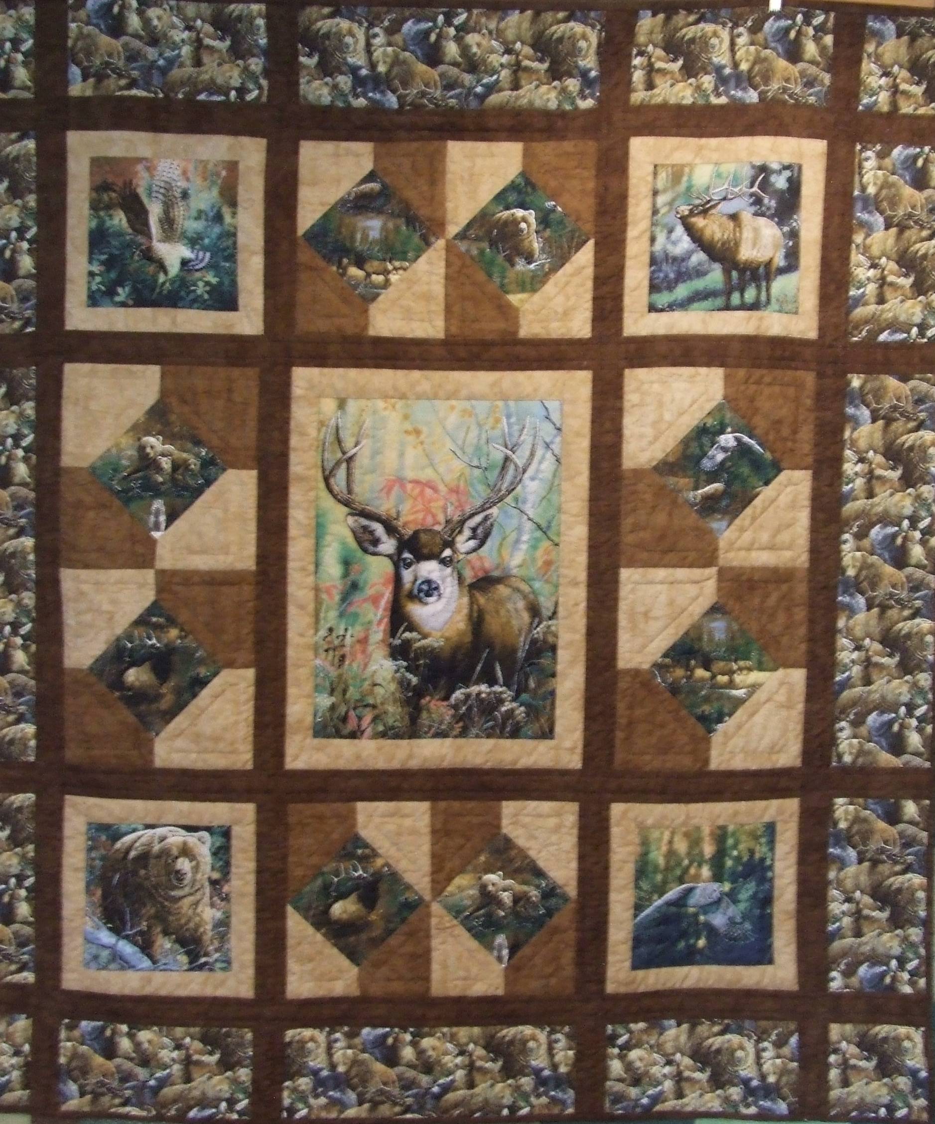 Quilting Patterns Using Panels : Fabric panel quilts Tim Latimer - Quilts etc