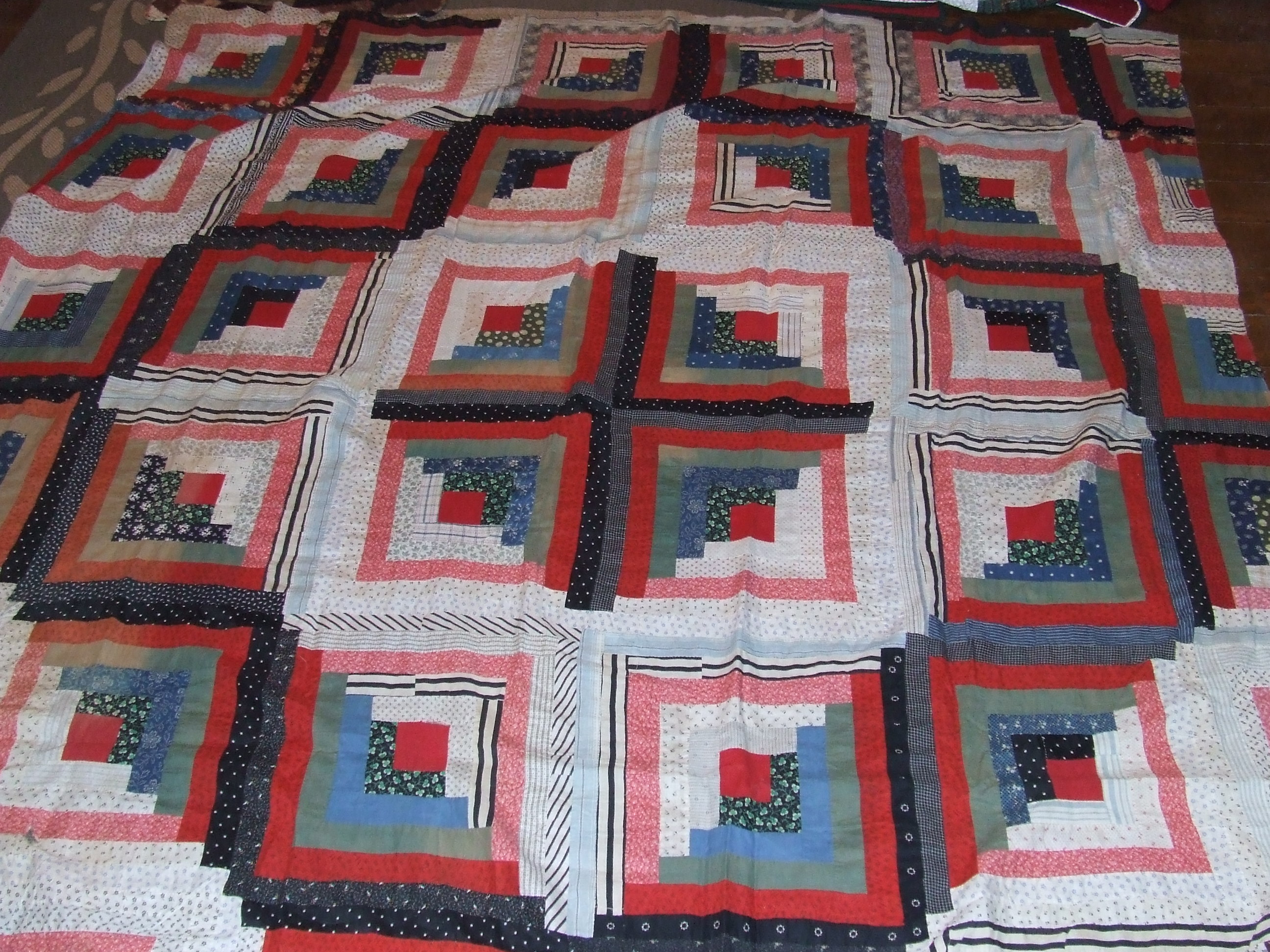 Superb img of Log Cabin Quilts with #9D2E33 color and 2592x1944 pixels