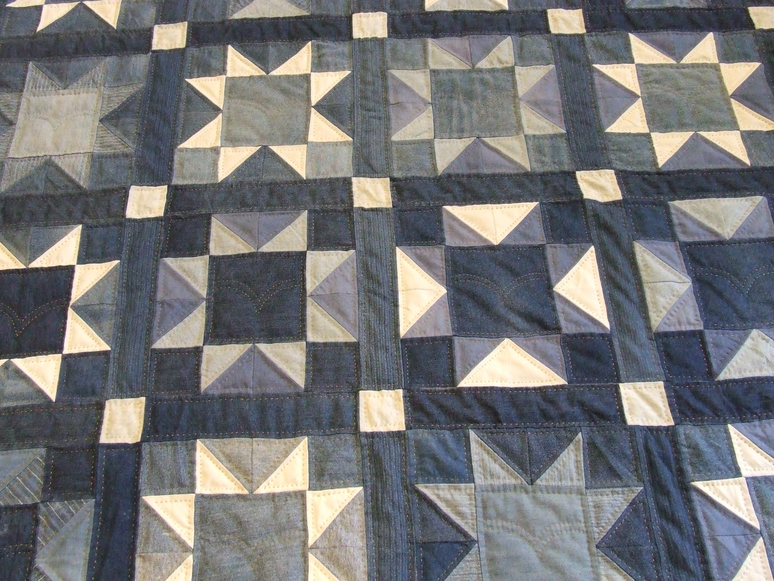 quilts pinterest denim strip quilt pin