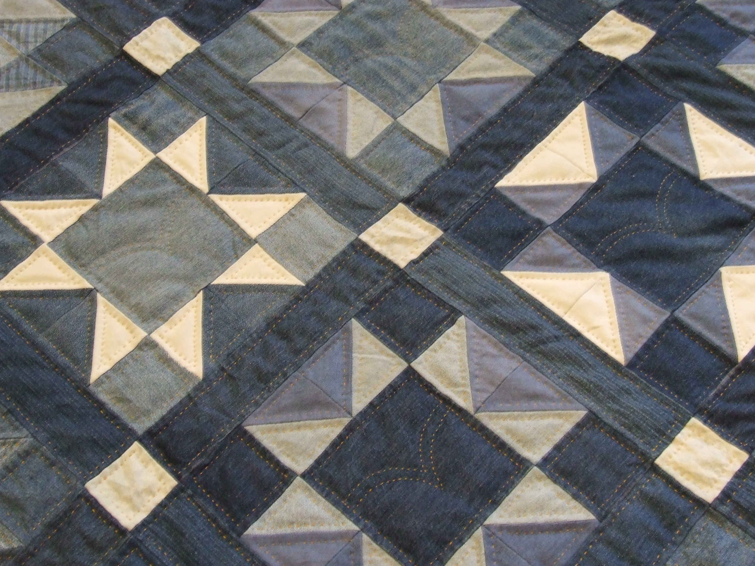 Denim Quilt Finished Tim Latimer Quilts Etc