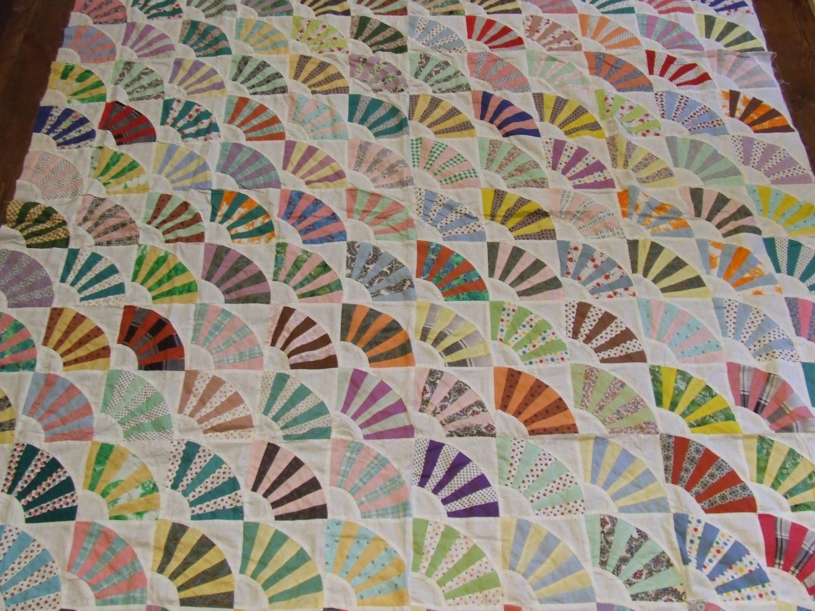Fan Quilt Top0001 Tim Latimer Quilts Etc