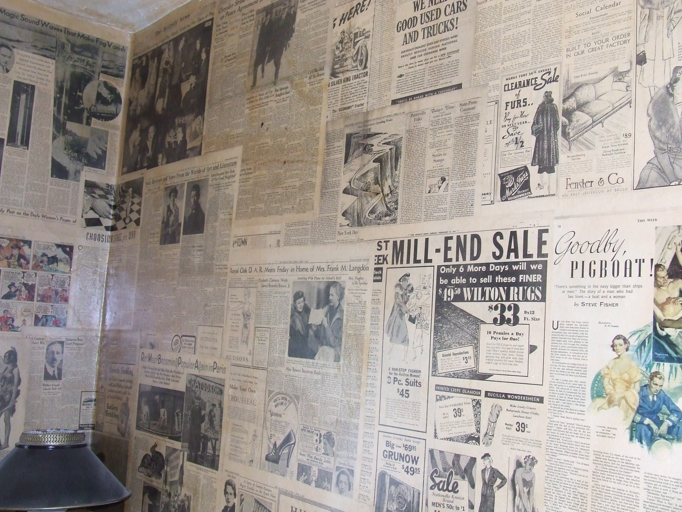 Newspaper Wallpaper For Walls