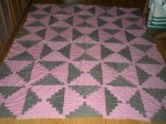 vintage courthouse steps quilt top
