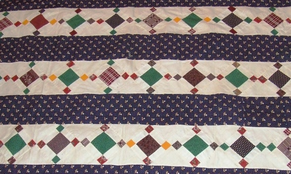 Crib sized quilt top close up