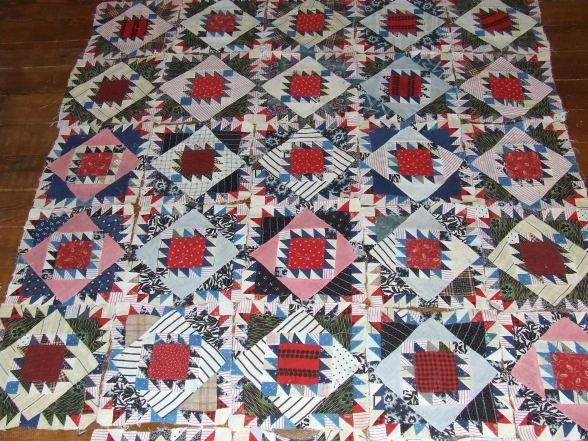 king Solomon's temple antique quilt block 10