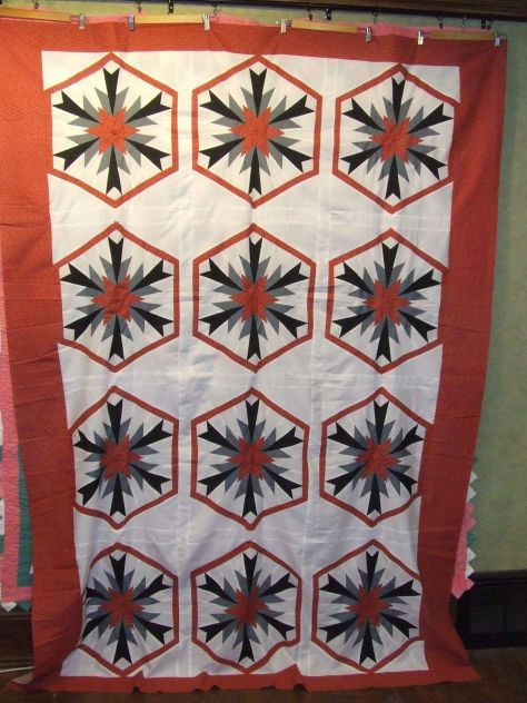 modernistic star quilt top
