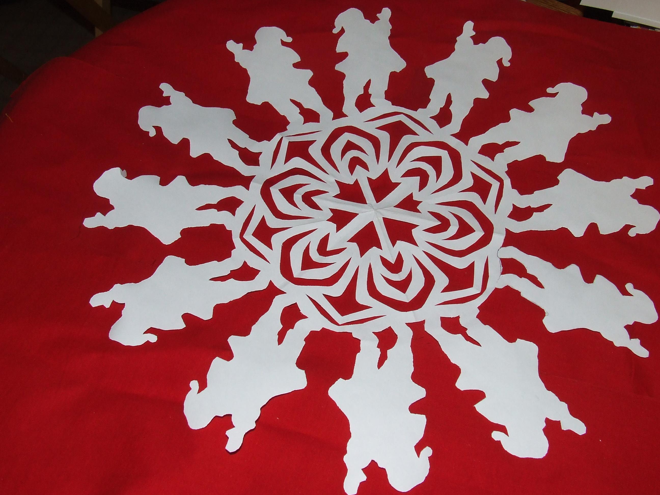 Happy St Nicholas Day In German >> santa snowflake | Tim Latimer - Quilts etc