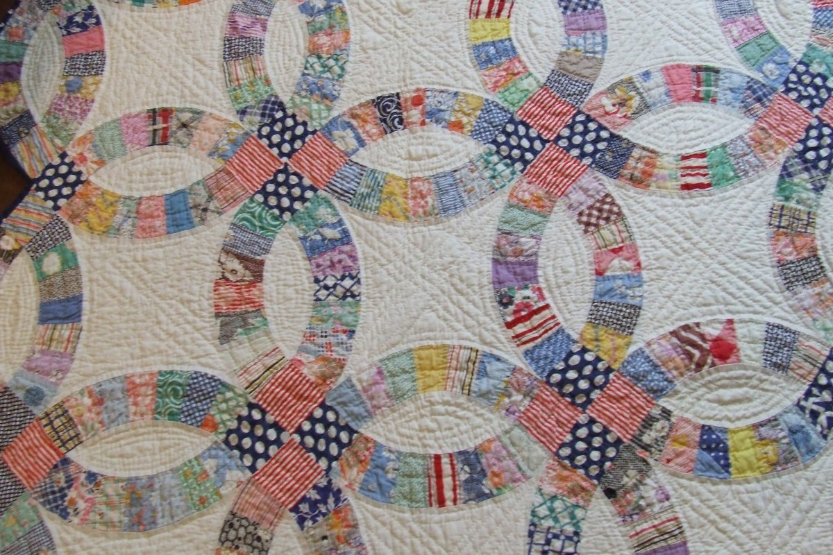 double wedding ring quilt wedding ring pattern tim latimer quilts etc 3662