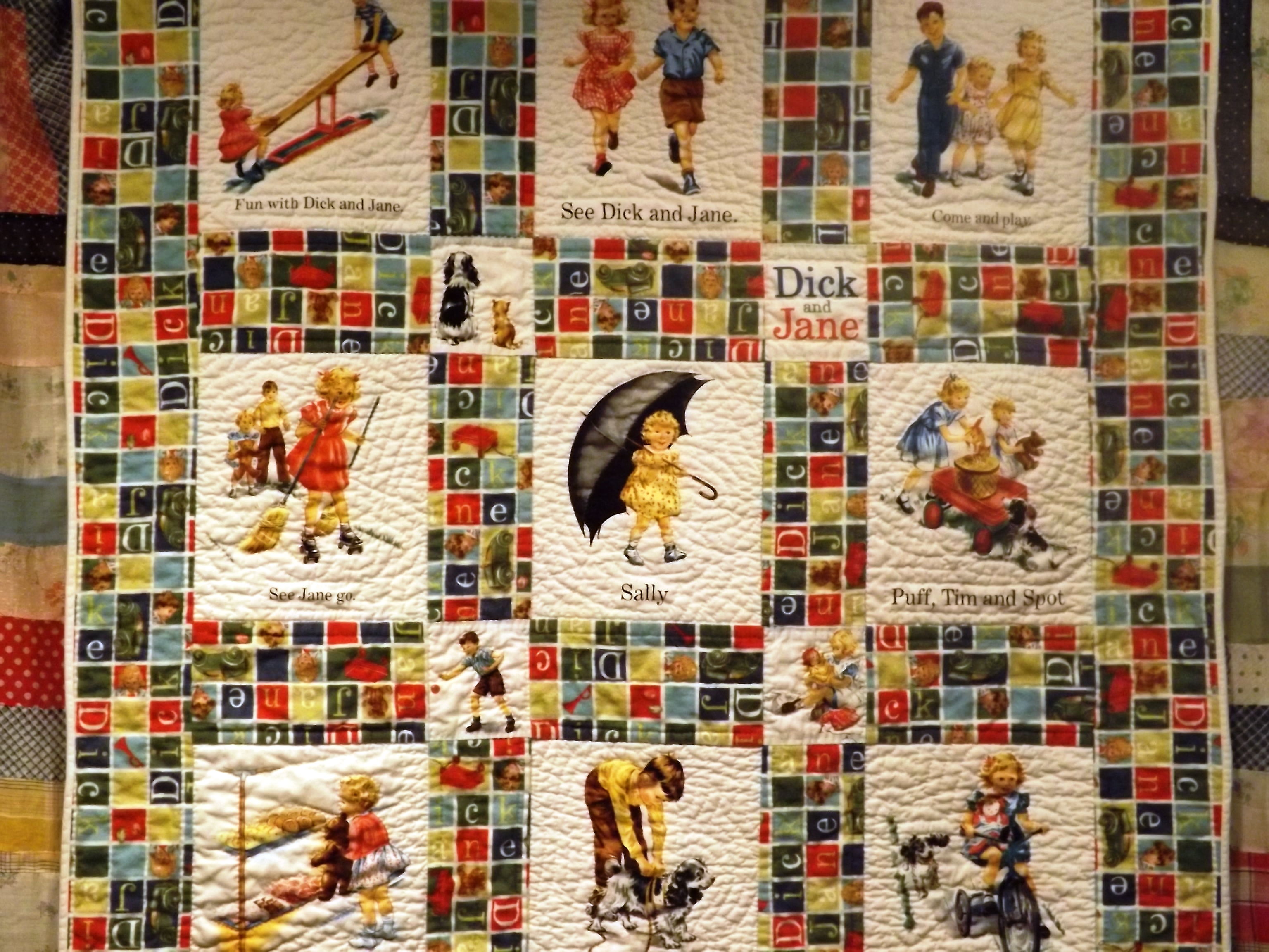 dick-and-jane-quilt-fabric-nyloned-legs