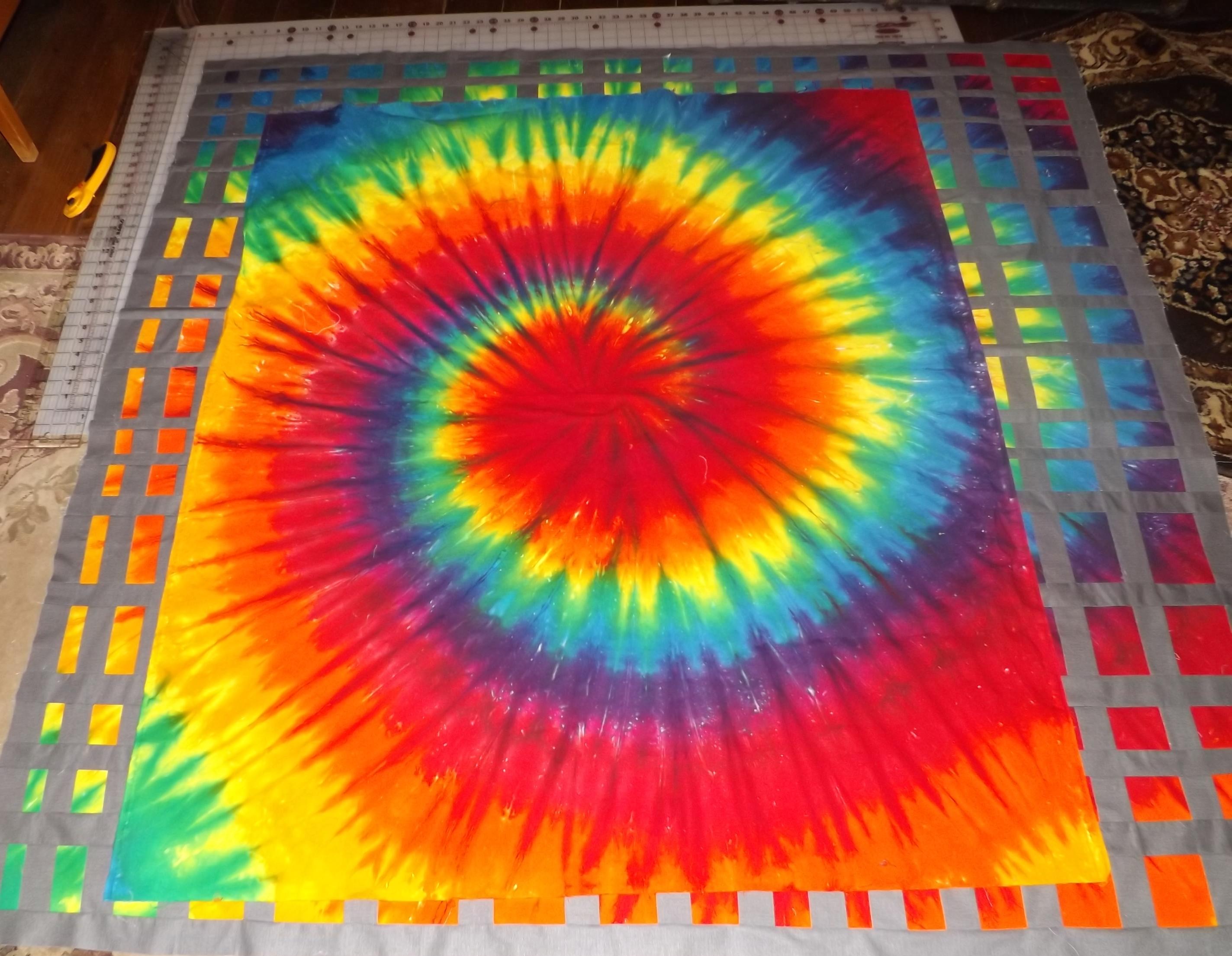 tie dye quilt finished tim latimer quilts etc. Black Bedroom Furniture Sets. Home Design Ideas