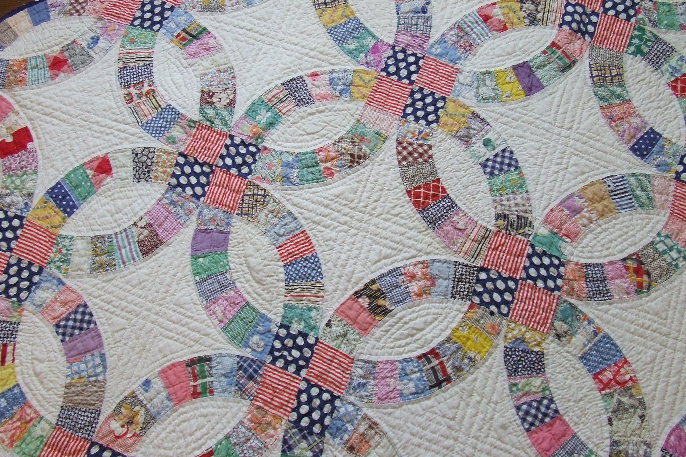 double wedding ring pattern tim latimer quilts etc With wedding ring pattern quilt