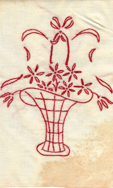 redwork basket