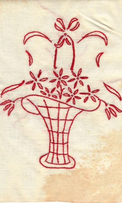 redwork basket