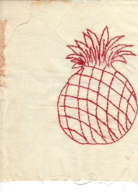 redwork pineapple