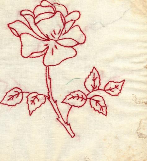 redwork rose