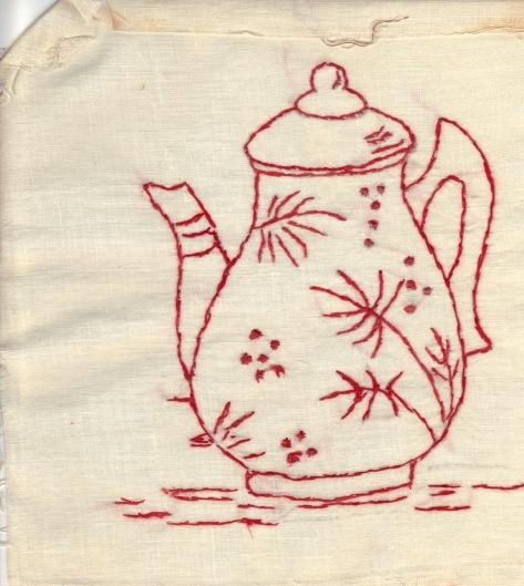 redwork teapot