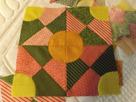 I made a start on these blocks and plan a full sized quilt