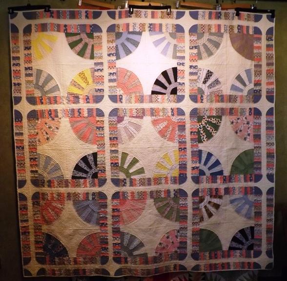 Vintage Fan quilt 002