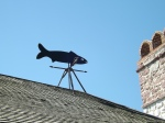 Fish weather vane at the fort