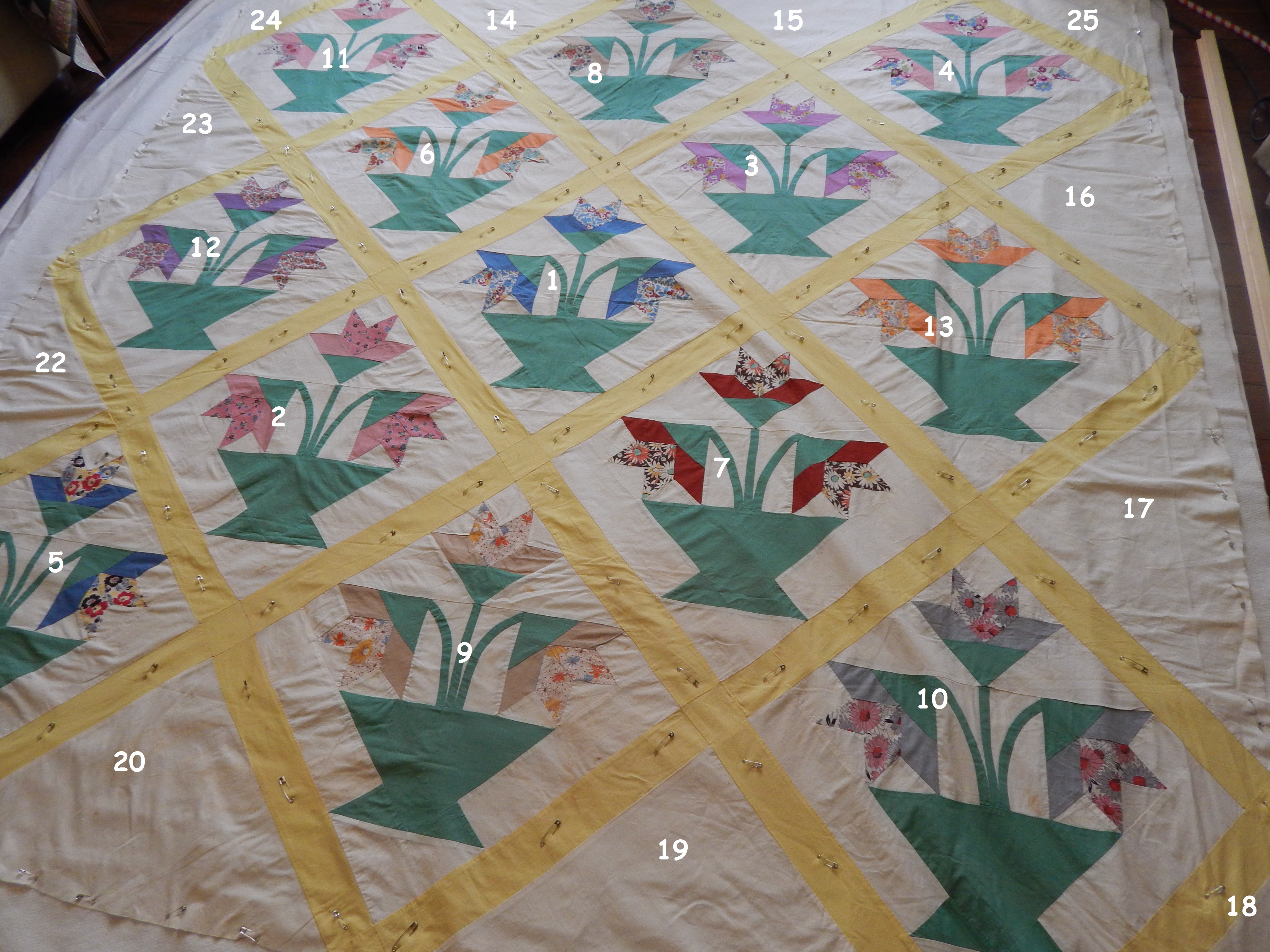 Hand Quilting the Basket of Lilies | Tim Latimer - Quilts etc