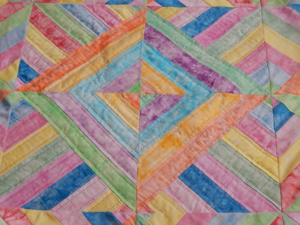 easter strip quilting start 007