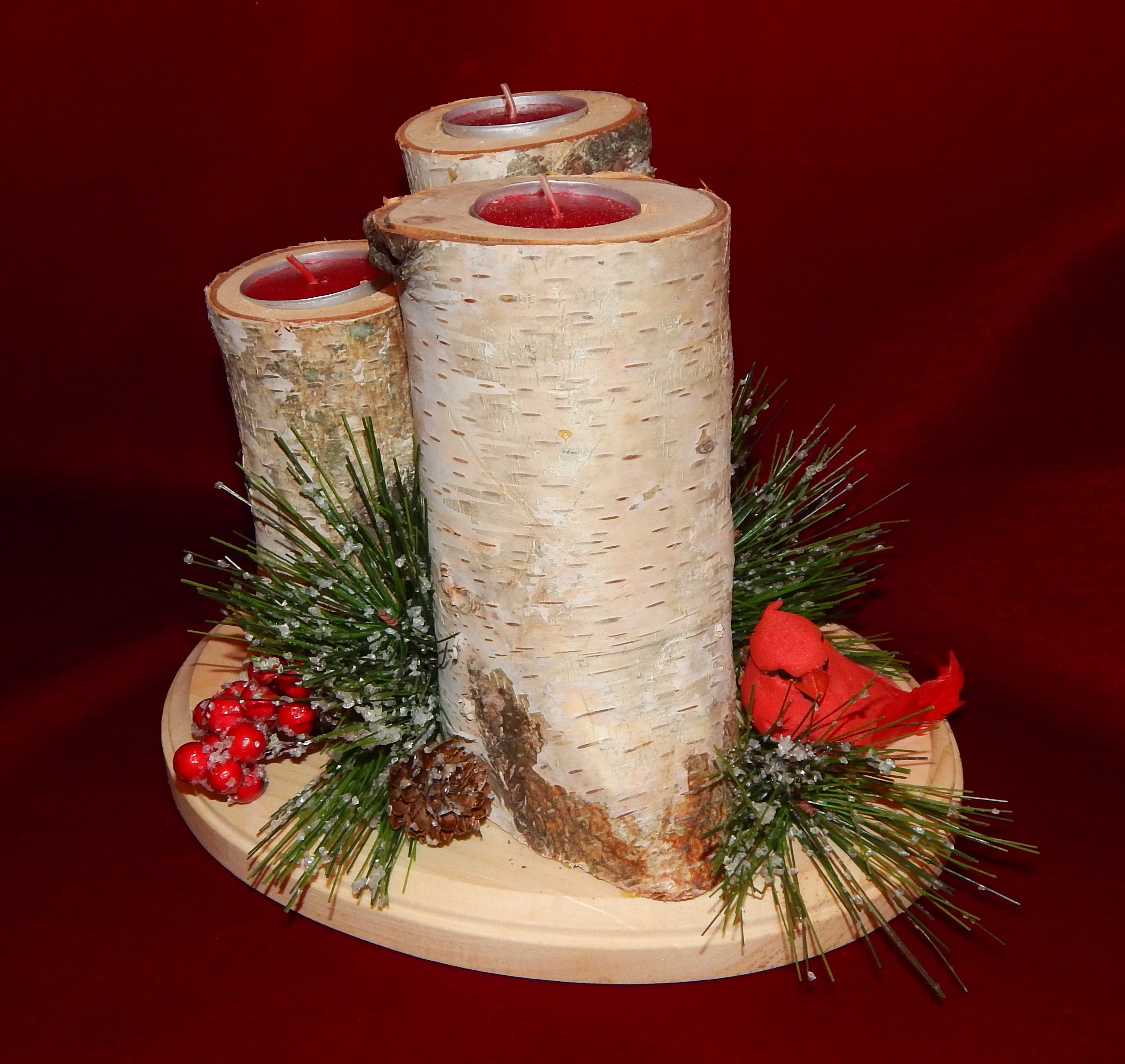 How to make a christmas yule log decoration - I Posted Pictures Of My Christmas Tree Before